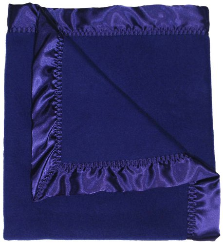 Raindrops Fleece Boy Receiving Blanket, Dark Royal - 1