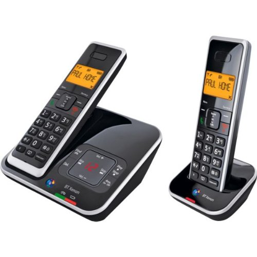Ultimate BT Xenon 1500 Cordless Telephone with Answer Machine - Twin with accompanying HSB Microfibre Cleaning Glove images
