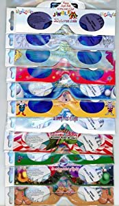 3D Christmas Glasses - 3Dstereo Holiday Eyes(TM) - Holiday Specs - JINGLE BELLS - latest one - Transform Christmas Lights Into Magical Images - 11 different Glasses - Ships Folded & Sleeved