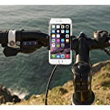 "Gear Beast Secure Grip Universal Smartphone Bike Mount Holder Cradle for iPhone 6, 5, 5S, 5C, 4, 4S; Samsung Galaxy S6, S6 edge, S5, S4, S3; and other Smartphones up to 5.2"" including LG, Google Nexus, Nokia Lumina, Sony Xperia, and Motorola Moto. Easy install, no tools needed. Works as stroller and golf cart mount."