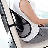 CostMad ® Super Comfort Mesh Lumbar Back Seat Sit Right Support System Pain Relief for Office Chair Seat etc with Elasticated Positioning Strap and Mesh Grill