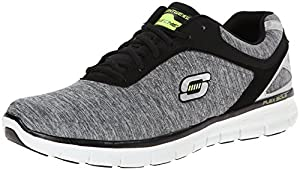 Skechers Synergy Instant Reaction 51189 LGBK Herren Sneaker, Grau (LGBK), EU 43