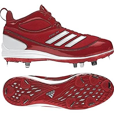 Buy Adidas Excel 365 Mid Mens Metal Baseball Cleats Red by adidas