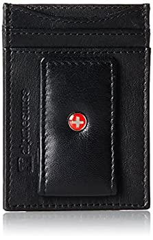 Genuine Leather Money Clip front pocket wallet with magnet clip and card ID Case