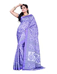 Surat Tex Purple Crepe Daily Wear Printed Sarees With Blouse Piece-E537SE1006BAS