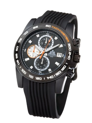 Rothenschild Voyager RS-0808-BSS Chronograph for Him Open Balance Spring