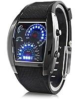 Timetop Cool LED Racing Montre noir pour les femmes et les hommes a la mode et un cadeux pour vos amis ou parents