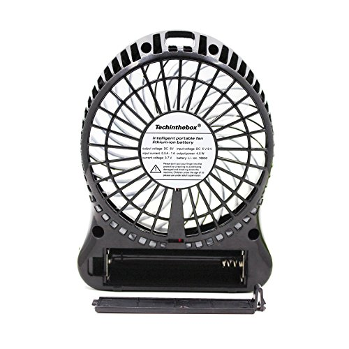 Portable Sports Fan : Techinthebox led display portable fan inch speeds mini