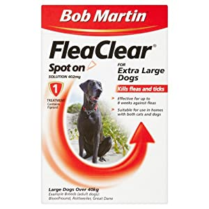 Bob Martin Flea Clear Fipronil Spot on 1 Tube for Extra Large Dog