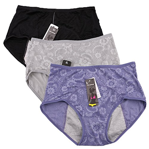 Donne periodo mestruale mutandine Jacquard facile pulire le mutandine Multi pack Size 36-44