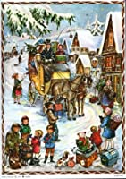 Horse Carriage German Christmas Advent Calendar from Sellmer Verlag