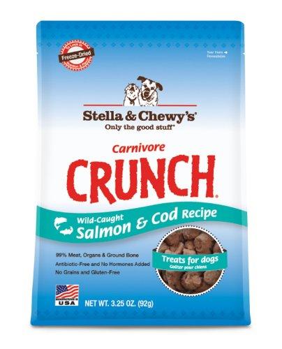 Stella & Chewy'S Carnivore Crunch Salmon & Cod Dog Treats 3.25Oz
