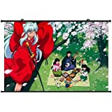 1 X Inuyasha Anime Wall Scroll Poster (24''*16'') Support Customized