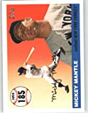 2006 Topps Mantle Home Run History #MHR185 Mickey Mantle - New York Yankees (2006 Topps Update) (Baseball Cards)