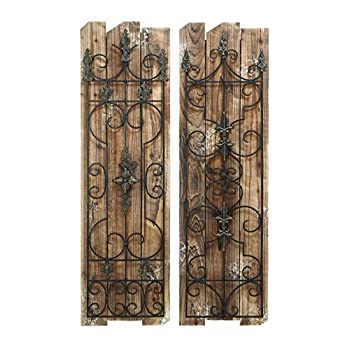 Deco 79 Enchanting Wooded Gate Wall Plaque