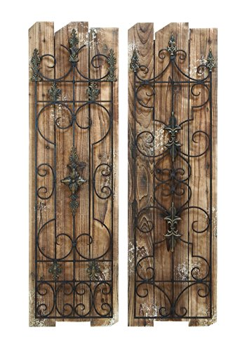 Deco 79 Enchanting Wooded Gate Wall Plaque 0