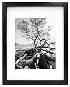 MCS Art Frame, 11 by 14-Inch with 8 by 10-Inch Mat Opening, Black (47561)