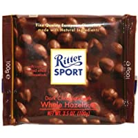 Ritter Sport Dark Chocolate with Roasted Whole Hazelnuts , 3.5 Oz (100 G)