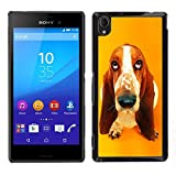 TopCaseStore Snap On Hard Back Shell Rubber Case Protection Skin Cover Basset Hound  Pendant Ear Dog Sony Xperia M4 Aqua
