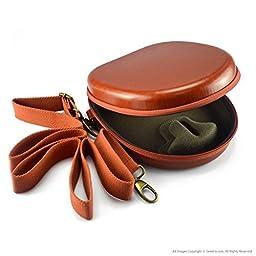 Geekria® UltraShell Headphones Case for Bose QuietComfort QC3, QC25, QC2, QC15, AE2w, AE2i, AE2 / Headphone Hard Carrying Case / Travel Bag (Scarlet)