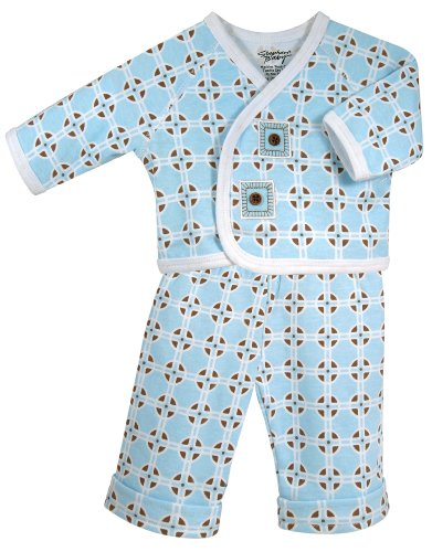 Stephan Baby Diaper Cover and Jacket Set, Neo-Geo Geometric Print
