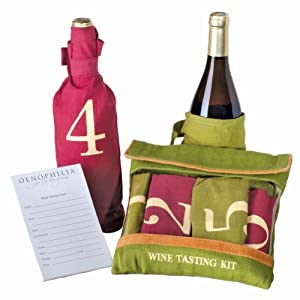The Wine Tasting Kit Incl Six Individually Numbered Cloth Bags & Pad Of Scoring Notes