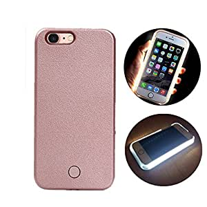 "For iPhone 7 Led Selfie Case, Valam White LED Light Up Flash Luminous Cover for IPhone7 (iPhone 7 â€"" Rose gold)"