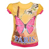 Leichie Casual Top with Digital Butterfly Print Design No.2307 Yellow