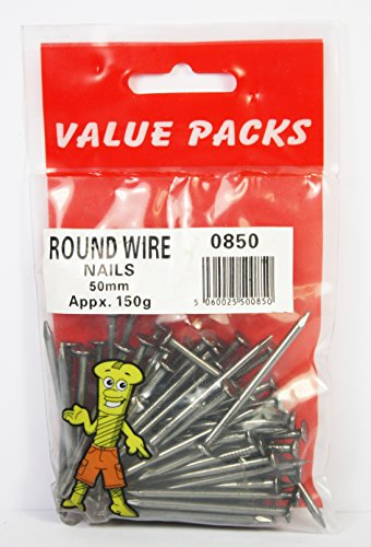 2 inch DIY Nails (5cm), Round Wire Nails 50 mm 150g Pack