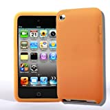 4G Touch Orange Silicone Protective Armour Case Cover & Screen Protector Kit for New Apple iPod Touch 4th Generation - 8GB 32GB 64GB