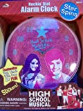 High School Musical Rockin' Dial Alarm Clock in pink and purple featuring: Gabriella and Troy