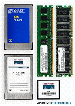 256MB to 1GB Approved Cisco DRAM Kit pour Cisco 2821 Router (2x512MB) MEM2821-256U1024D-AN