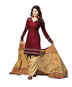 Vaamsi Womens Blended A-Line Dress Material (Cocp6 _Brown _Free Size)