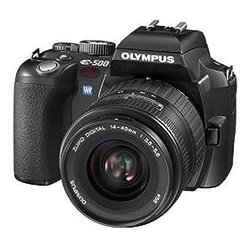 The Electronics World  Olympus Evolt E500 8MP Digital SLR with Zuiko 14-45mm f/3.5-5.6 Digital SLR Lens