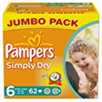 Pampers Simply Dry 62 Couches 16 kg+...