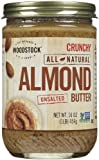 Woodstock Crunchy Almond Butter, No Salt, 16 oz