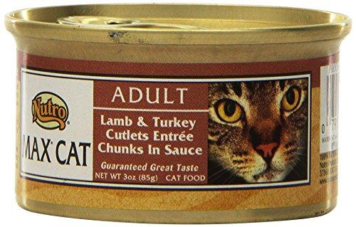Nutro MAX CAT Adult Lamb And Turkey Cutlets Entrée