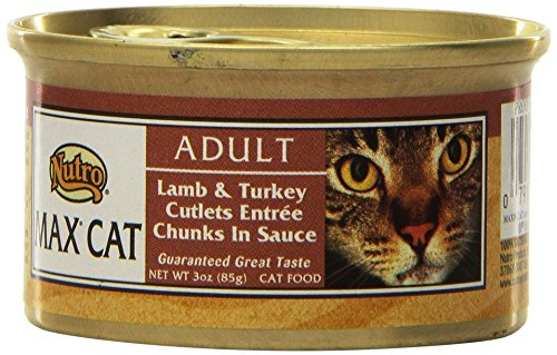 Nutro Max Canned Cat Food 24 Pack Lamb/Turkey