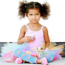 Huggalugs Girls Cupcakes Leg Warmers