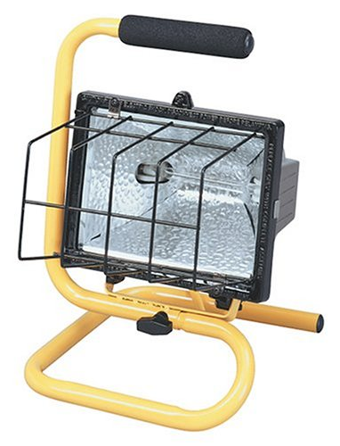 Coleman Cable 07775 One-Light 500-Watt Quartz Halogen Light with Hand-Held Pivot-Base