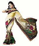 Jiya Presents Printed Georgette Saree(Multi)