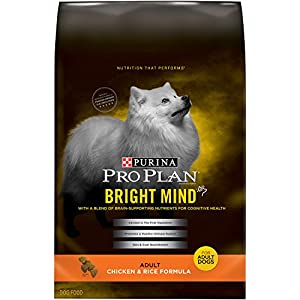 Purina Pro Plan Dry Dog Food, Bright Mind, Adult Chicken & Rice Formula, 30-Pound Bag, Pack of 1