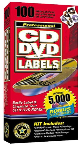 100 Professional CD/DVD Labels with 5000 Clip Art