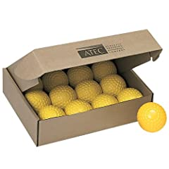 Buy ATEC Tuffy Regular Dimpled Softball Dozen Box (Yellow) by Atec