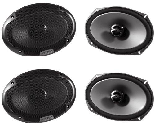 "(2) Pairs Brand New Alpine Spe-6090 6"" X 9"" 2 Way Pair Of Car Speakers Totalling 1200 Watts Peak / 300 Watts Rms"
