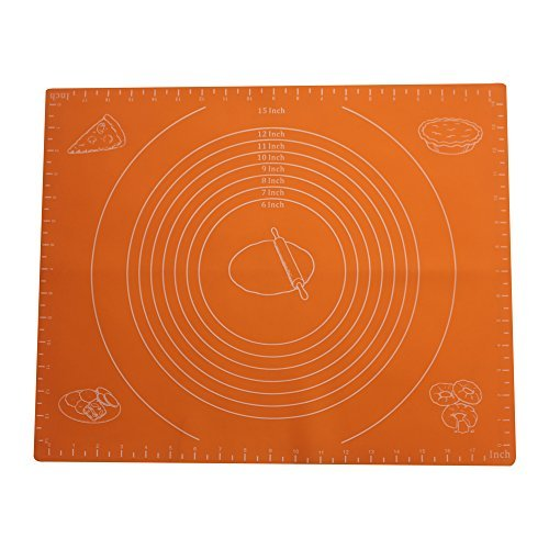 Extra Large Silicone Baking Mat for Pastry Rolling with Measurements(50×60cm),Chef Special,Non Stick,Non Slip,Pizza,Breads,Lasagna,and other Recipes & Desserts