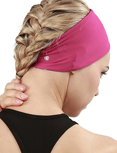 Yoga Reflex Unisex Stretch Elastic Yoga Running Fashion Headbands , Hotpink