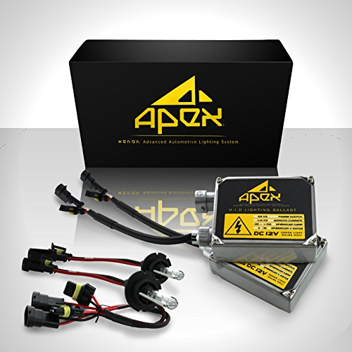 "55W Apex H13 ( 9008 ) Low / High Halogen (Low-Beam Xenon/ High-Beam Halogen) Xenon Hid Conversion Kit ( 6K 6000K Diamond White )"" All Bulb Sizes And Colors "" With Premium 55 Watt Digital Ballasts Hids Kits"
