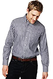 Blue Harbour Pure Cotton Striped Shirt