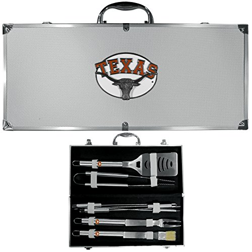 NCAA Texas Longhorns 8 Piece BBQ Set w/Case (Longhorn Grill compare prices)